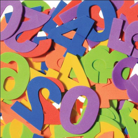 Moosgummi-Zahlen bunt sortiert | 120 Stück | Größe: 50 mm