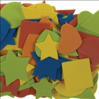 Moosgummi-Formen | 100 Stück | Farben und...