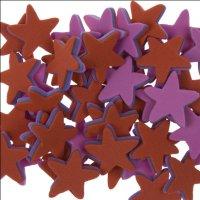 Moosgummi-Sterne 3-farbig | 50 Stück