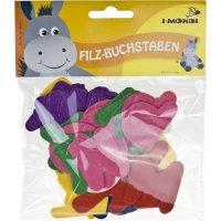 Letter felt shapes colors assorted | 78 pieces | size: 50 mm