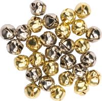 Glöckchen mit Öse | Farbe: gold/silber | 30...