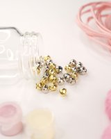 Craft bells with eyelet gold/silver assorted | 30 pieces...