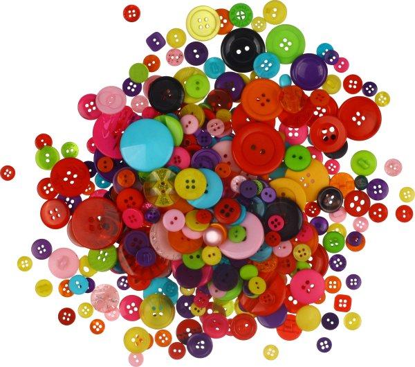 Knöpfe   Größen & Farben sortiert   ca. 250 g. (ca. 300 Stück)