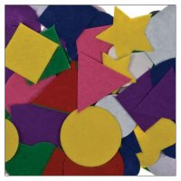 Felt shapes colors assorted | 100 pieces | self-adhesive