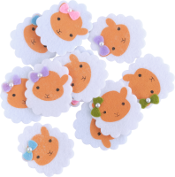 Felt | shape: sheeps | 12 pieces | self-adhesive