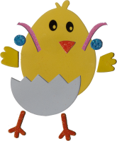 DIY Foam craft kit | design: chicken | 2 pieces