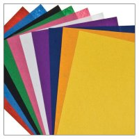Felt sheets, assorted colors | 10 pieces Size: 30,5 cm x...