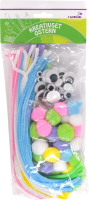 Craft set easter 50xChenille 0,6x30cm 50xPompons 10-30mm 30x wiggle eyes 10,15,25mm