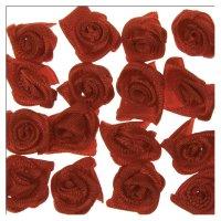 Röschen aus Stoff | Farbe: rot | 20 Stück |...