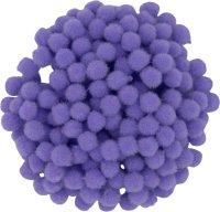 Pompons | color: light purple | 200 pieces | size: 10 mm