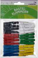 Wooden craft clips colors assorted | 48 pieces | size:...