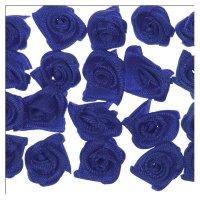 Röschen aus Stoff | 20 Stück | Farbe: blau |...