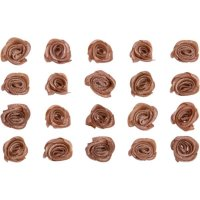 Roses | color: brown | 20 pieces | size: 15x5 mm