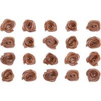 *Röschen aus Stoff | Farbe: braun | 20 Stück |...