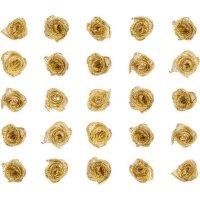 Röschen aus Stoff | Farbe: Gold | 25 Stück |...