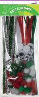 Craft set x-mas red/green/white/silver assorted | 132...