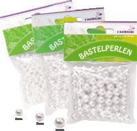 Bastelperlen aus Kunststoff | Farbe: natur | 40 g