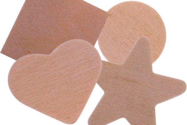 Stanzteile aus Holz   130 Stück   Größen sortiert