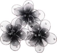 Schmuckfiguren aus Nylon & Draht | Form: Blume | 3...