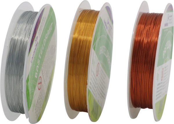 Basteldraht Farbe sortiert Länge: 15 m Ø 0.3 mm