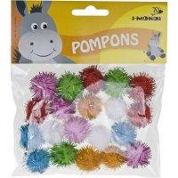 Pompons glitter bunt sortiert | 20 Stück |...