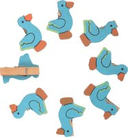 Mini-wooden craft clips | design: duck | 8 pieces | size:...