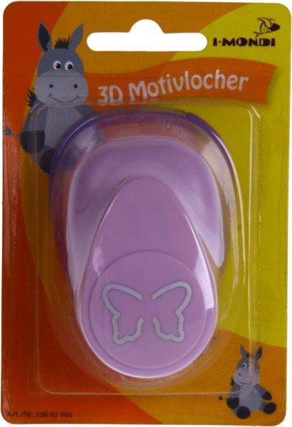 3D Motivlocher groß (2) Schmetterling | Größe: ca. 7.5 x 5.2 x 4.7 cm