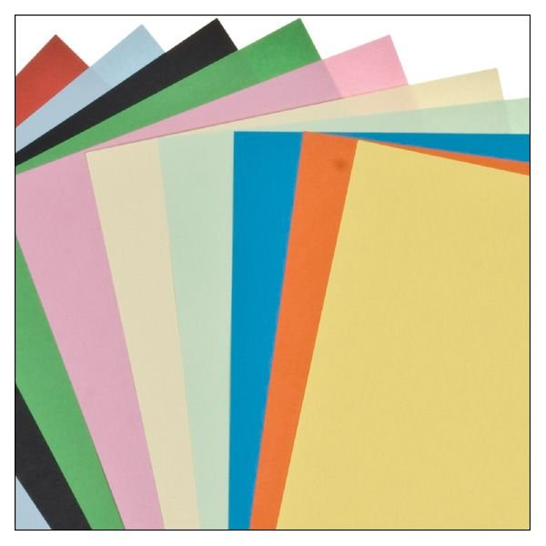 Craft paper colors assorted   10 pieces   size: 21 x 29 cm   weight: 160 g/m²
