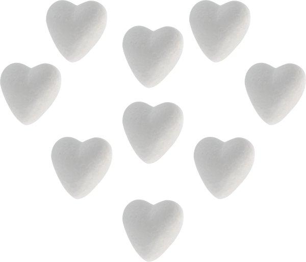 Styrofoam hearts | 9 pieces | size: 40 mm