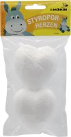 Styrofoam hearts | 2 pieces | size: 80 mm