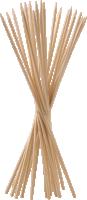 Wooden skewer   color: nature   50 pieces   size: 20 cm