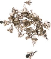 Craft bells sizes assorted | color: silver | 30 pieces |...