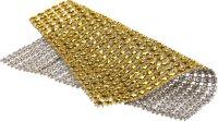 Rhinestone net   color: gold   2 pieces   size: 11.5x12 cm