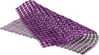 Schmucksteine-Netz | Farbe: lila | 2 Stück | Größe: 11.5x12 cm