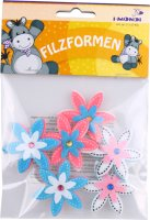 Felt shapes  | shape: flower | 6 pieces | size: 45 mm |...
