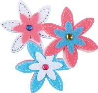 Felt | shape: flower | 6 pieces | size: 45 mm |...