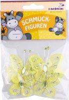 Schmuckfiguren aus Nylon & Draht | Farbe: gelb |...