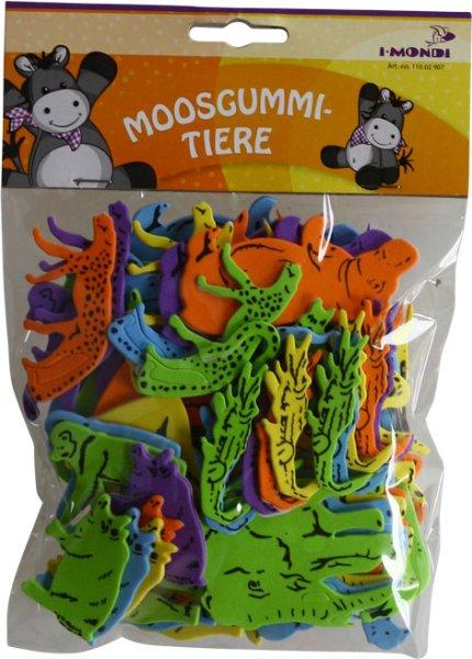 Moosgummi-Tiere | Motive & Farben sortiert | 60 Stück | selbstklebend
