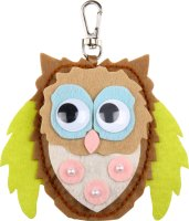 Sewing craft kit key chain | design: owl