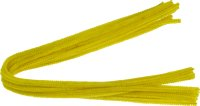Chenille stems | color: yellow | 15 pieces | length: 50...