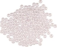 Pearl beads | Colour: white | 40 g | Size: 8 mm