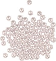 Pearl beads | Color: white | 40 g | Size: 10 mm