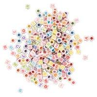 ABC-Bastelperlen aus Kunststoff bunt sortiert | Form:...