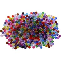 Plastic beads colors assorted | ~ 450 pieces | Ø: 6 mm |...