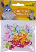 Craft pacifier colors assorted | 24 pieces | size: 22 mm