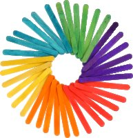 Wooden craft sticks colors assorted | 150 pieces | size:...
