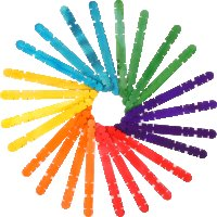 Colored interlink wooden craft sticks | 100 pieces Size:...