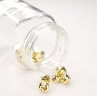 Glöckchen mit Öse | Farbe: Gold  | 30 Stück | Größen: 8mm 10mm 12mm