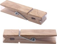 Bastelklammern aus Holz natur | 1 Stück |...