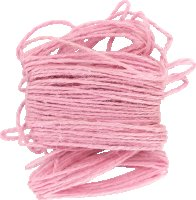 Jute yarn | color: pink | length: 10 m | thickness: 2 mm